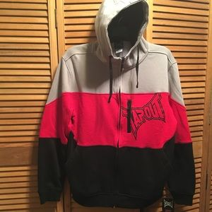 Tapout Red, Black and Gray Hoodie